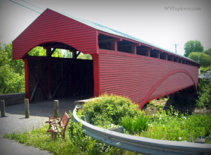 Barrackville Covered Bridge, WV, Marion County, Monongahela Valley Region