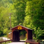 Covered bridge at Hundred, WV, Wetzel County, Northern Panhandle Region