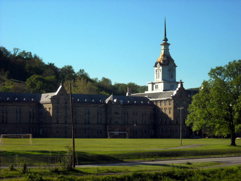 Former asylum at Weston, WV, Lewis County, Monongahela Valley Region