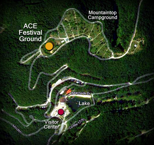 Map showing new ace festival ground west virginia explorer