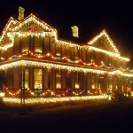 Holiday light display at Ansted, WV, Fayette County, New River Gorge Region