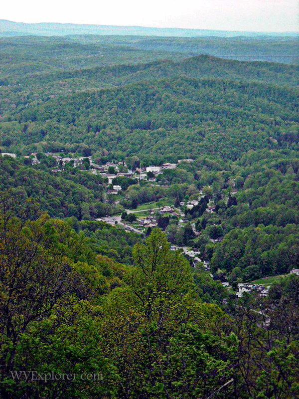 Ansted from Gauley Mountain