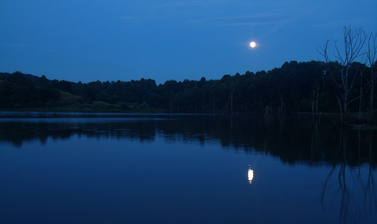 Moonlight on North Bend Lake