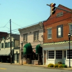 Shops in downtown Barboursville, WV, Cabell County, Metro Valley Region