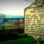 Marker recalling Benwood Mine Disaster, Benwood, WV, Marshall County, Northern Panhandle Region