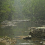 Fog on Birch River near Herold, WV, Braxton County, Heartland Region
