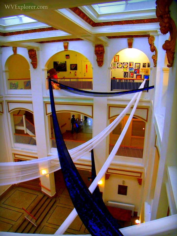 Atrium in Municipal Building of Bluefield, Bluefield, WV, Mercer County, Bluestone Region