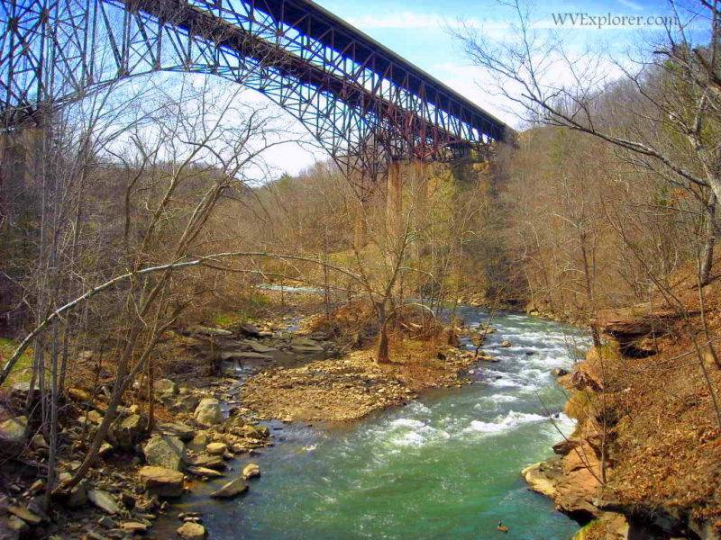 Bluestone River at I-77 Bridge