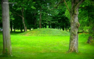 Prehistoric mound at Boaz, WV, Wood County, Mid-Ohio Valley Region