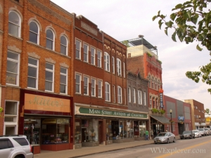 Main Street buildings in Buckhannon, WV, Upshur County, Monongahela Valley Region