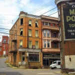 Corner buildings in Cameron, WV, Marshall County, Northern Panhandle Region