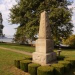 Cornstalk monument at Tu-Endie-Wei, Point Pleasant Battleground Mid-Ohio Valley Region