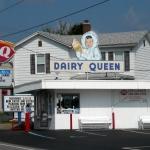 Vintage Dairy Queen sign at Grafton, WV, Taylor County, Monongahela Valley Region