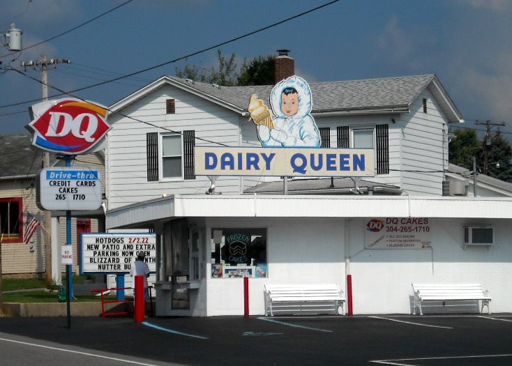 Vintage Dairy Queen sign at Grafton