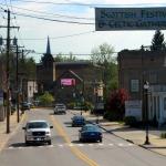 Main Street in Bridgeport, WV, Harrison County, Monongahela Valley Region