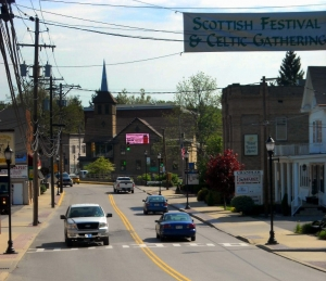 Main Street in Bridgeport, WV, Harrison County, Monongahela Valley Region
