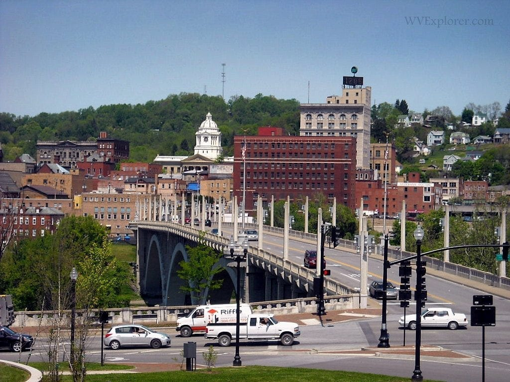 Bridge into Fairmont, West Virginia, Marion County, communities in the Monongahela Valley Region