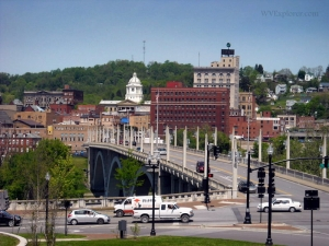 Jefferson Bridge into Fairmont, WV, Marion County, Monongahela Valley Region