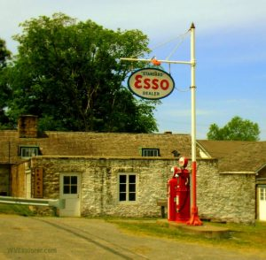 Esso station at Arthurdale, WV, Preston County, Monongahela Valley Region