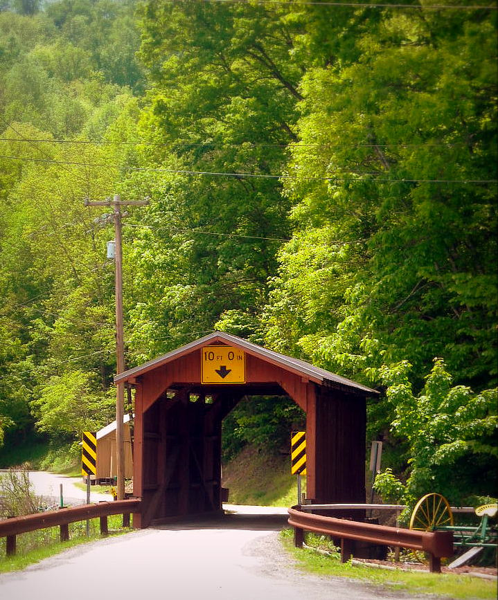 Covered bridge at Hundred
