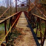 Footbridge at Forks of Coal River, WV, Boone County, Hatfield & McCoy Region