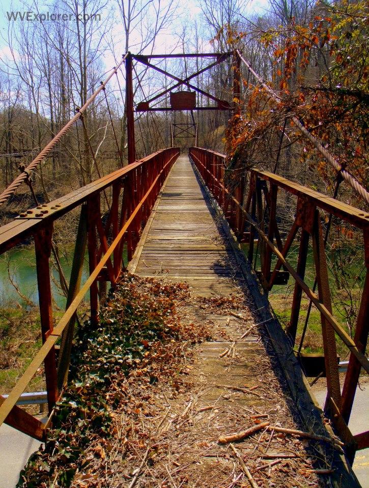 Footbridge at Forks of Coal River