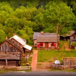 Reconstructed fort at Salem, WV, Harrison County, Monongehela Valley Region