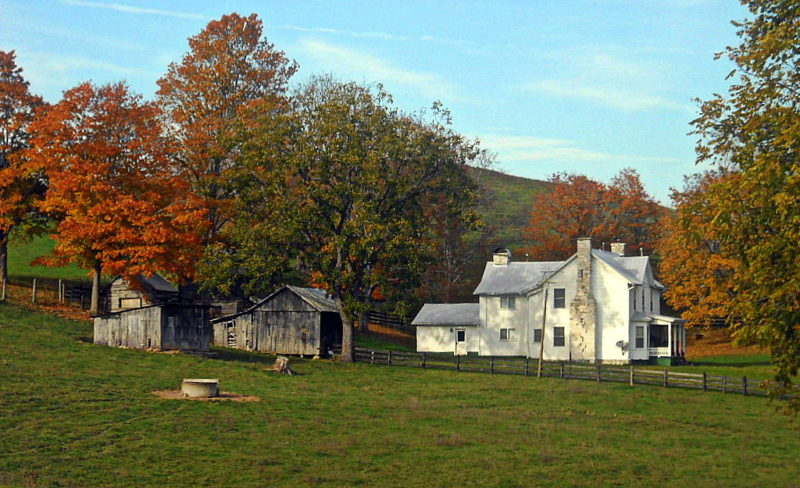 Autumn on Greenbrier Valley farm