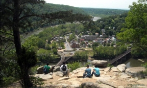 Harpers Ferry, West Virginia, from Maryland Heights, Harpers Ferry National Historical Park, Jefferson County, Eastern Panhandle Region