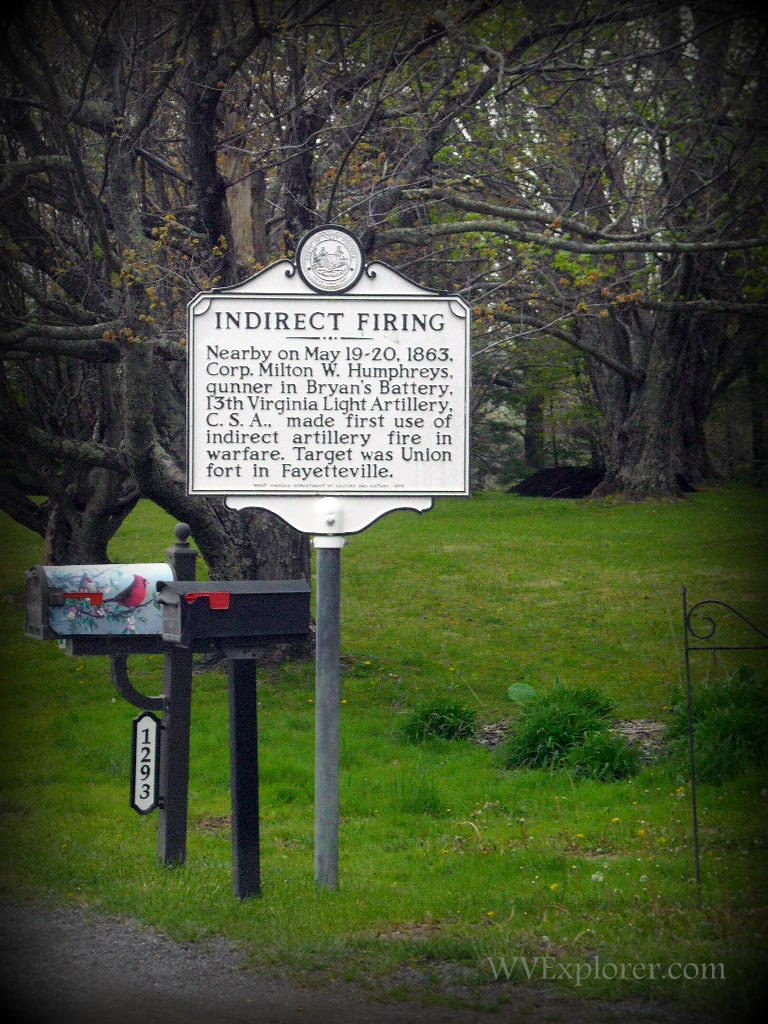 """Indirect Firing"" marker at Fayetteville"