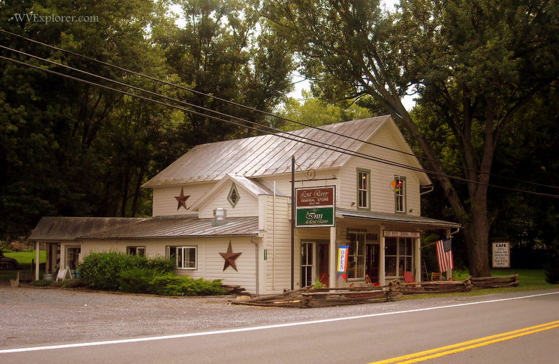Historic general store at Lost River