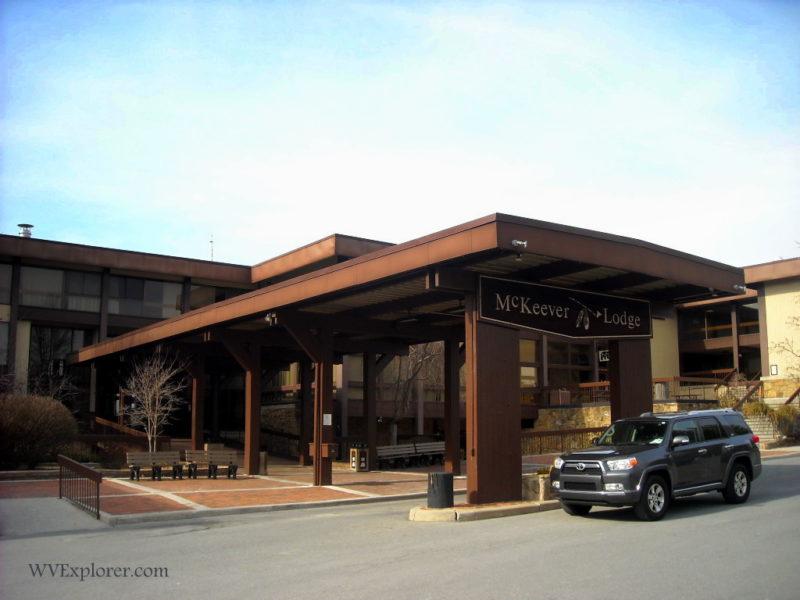 Porte-cochère at McKeever Lodge