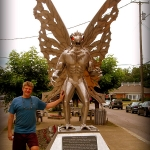 Mothman statue at Point Pleasant, WV, Mason County, Mid-Ohio Valley Region