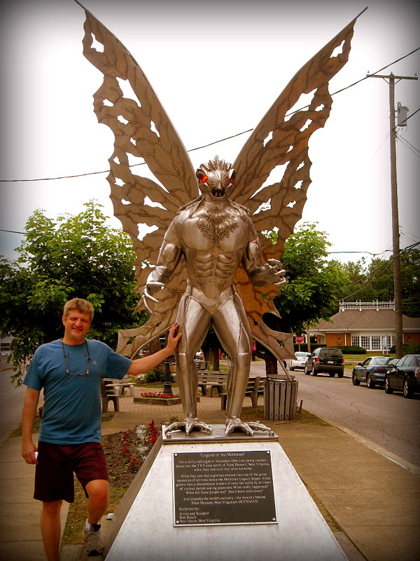 Mothman statue at Point Pleasant