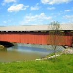 Mud River Covered Bridge, Milton, WV Cabell County, Metro Valley Region
