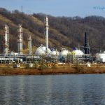 Gas refinery at Cresap, WV, Marshall County, Northern Panhandle Region
