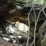 Natural arch at Babcock State Park, Fayette County, New River Gorge Region