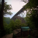New River Gorge Bridge from Lansing, WV, Fayette County, New River Gorge Region