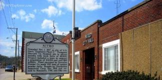 Marker at Nitro City Hall, Nitro, WV, Putnam County, Metro Valley Region