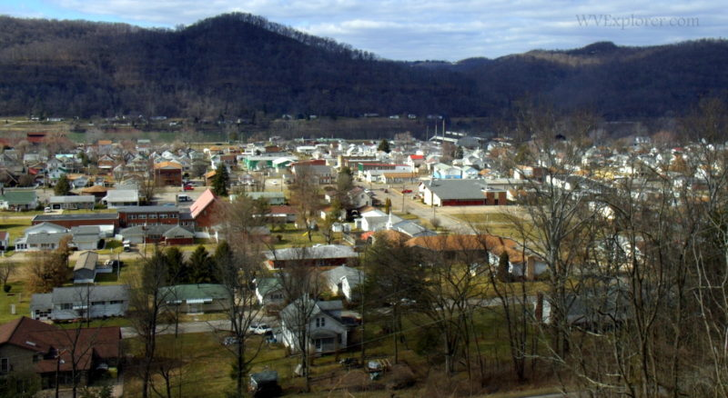 Ohio Valley from hill at Paden City