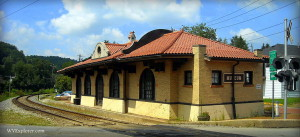 Restored railroad station at Philippi