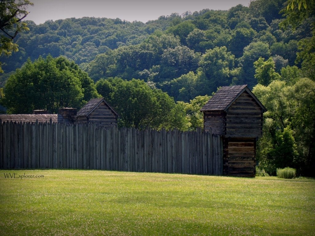 Palisade at Pricketts Fort State Park, Mount Harmony, WV Marion County, Monongahela Valley Region