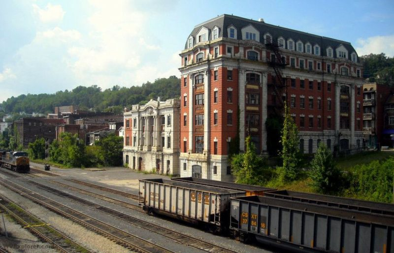 Railroad architecture at Grafton, WV, Taylor County, Monongahela Valley Region