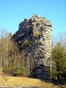 Rock at Pinnacle Rock State Park, Bramwell, WV, Mercer County, Bluestone Region
