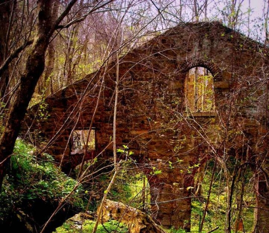 Ruin at Lower Kaymoor, WV, Fayette County, New River Gorge National River, New River Gorge Region