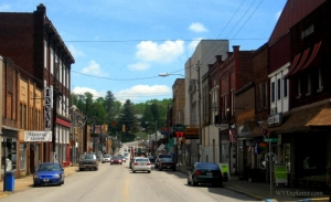Pike Street in Shinnston, West Virginia, Harrison County, Monongahela Valley Region