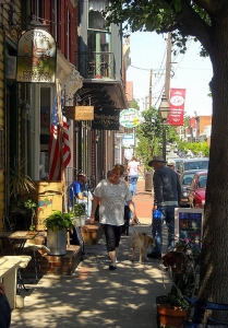 Shoppers at Shepherdstown, WV, Jefferson County, Eastern Panhandle Region