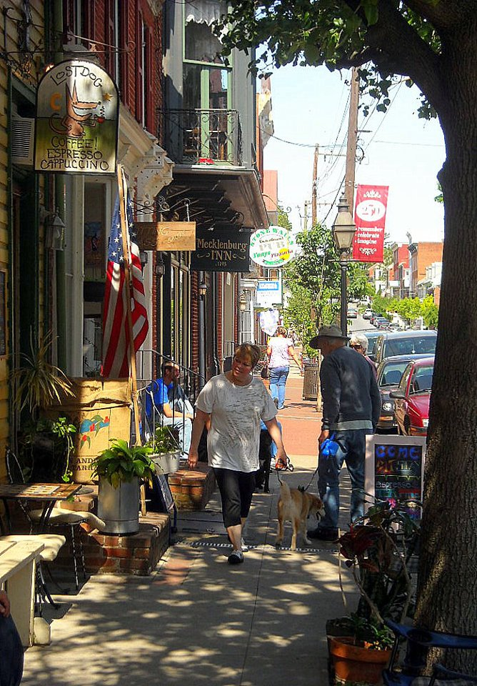Shoppers at Shepherdstown