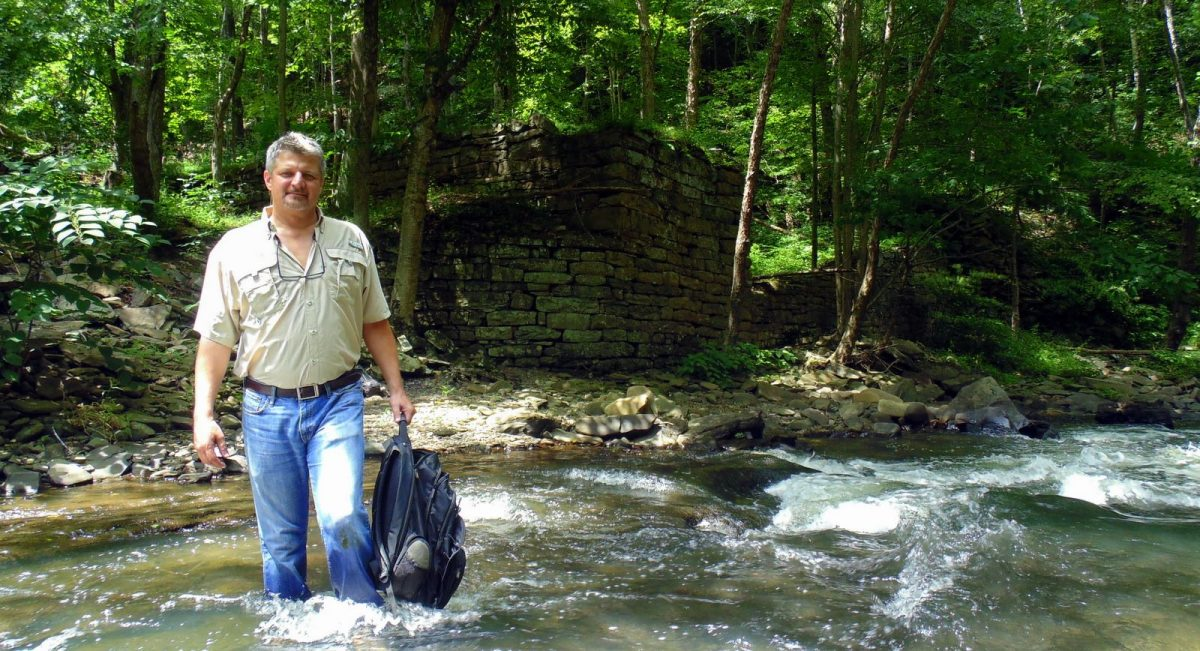 Editor visits mill ruins near Beckley