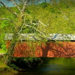 Simpson Creek Covered Bridge at Bridgeport, WV, Harrison County, Monongahela Valley Region